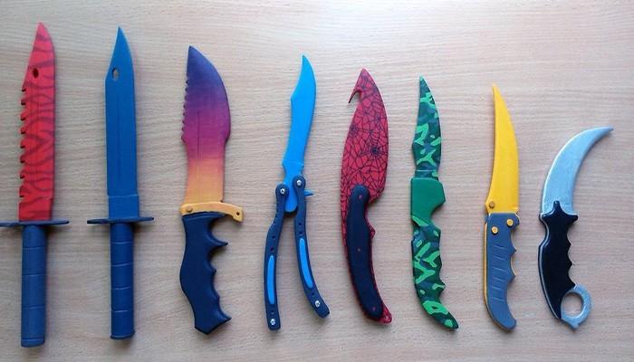 Все ножи из игры CS GO (КС ГО) с картинками и чертежами