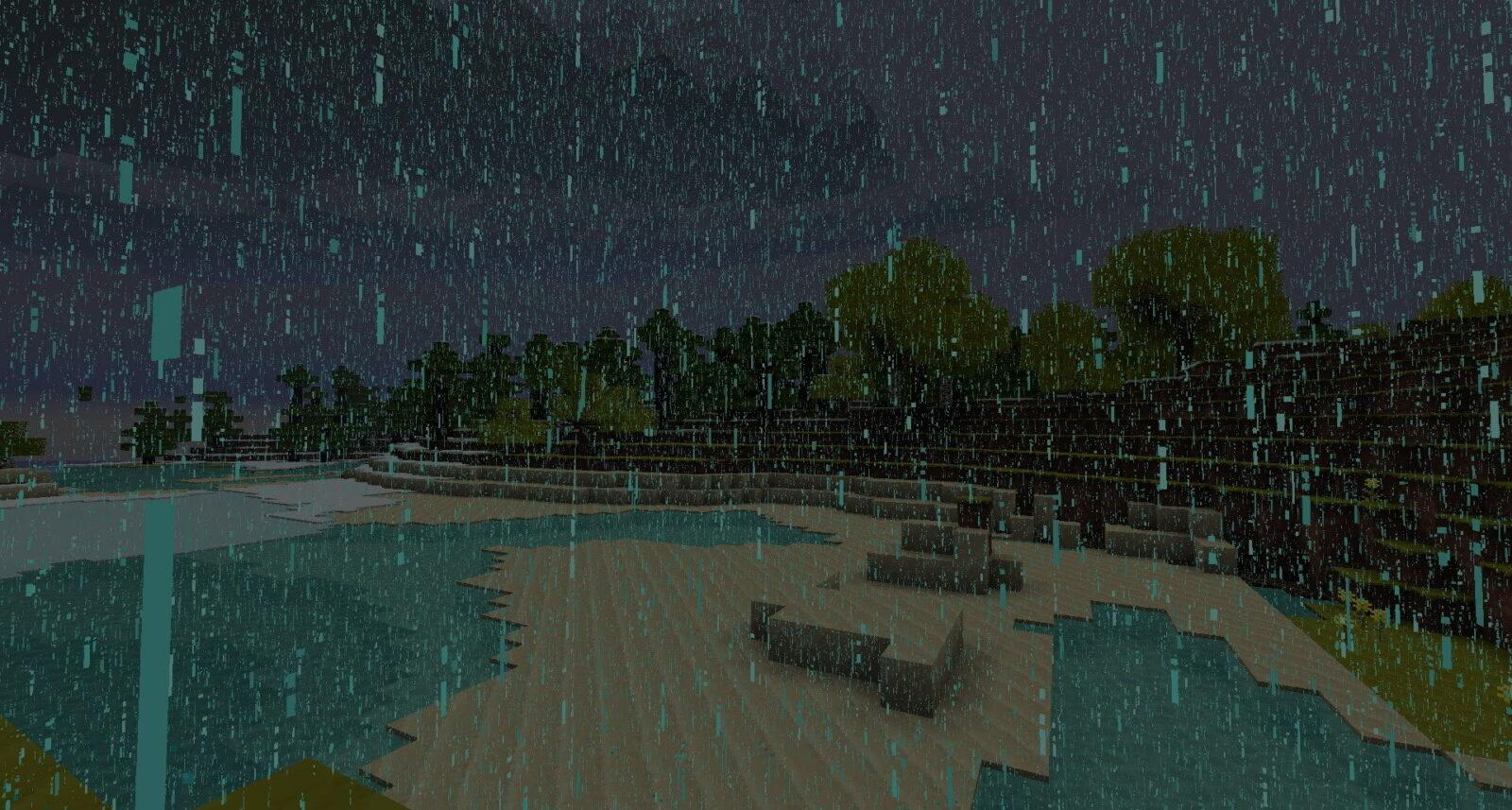 Как отключить дождь в Minecraft?
