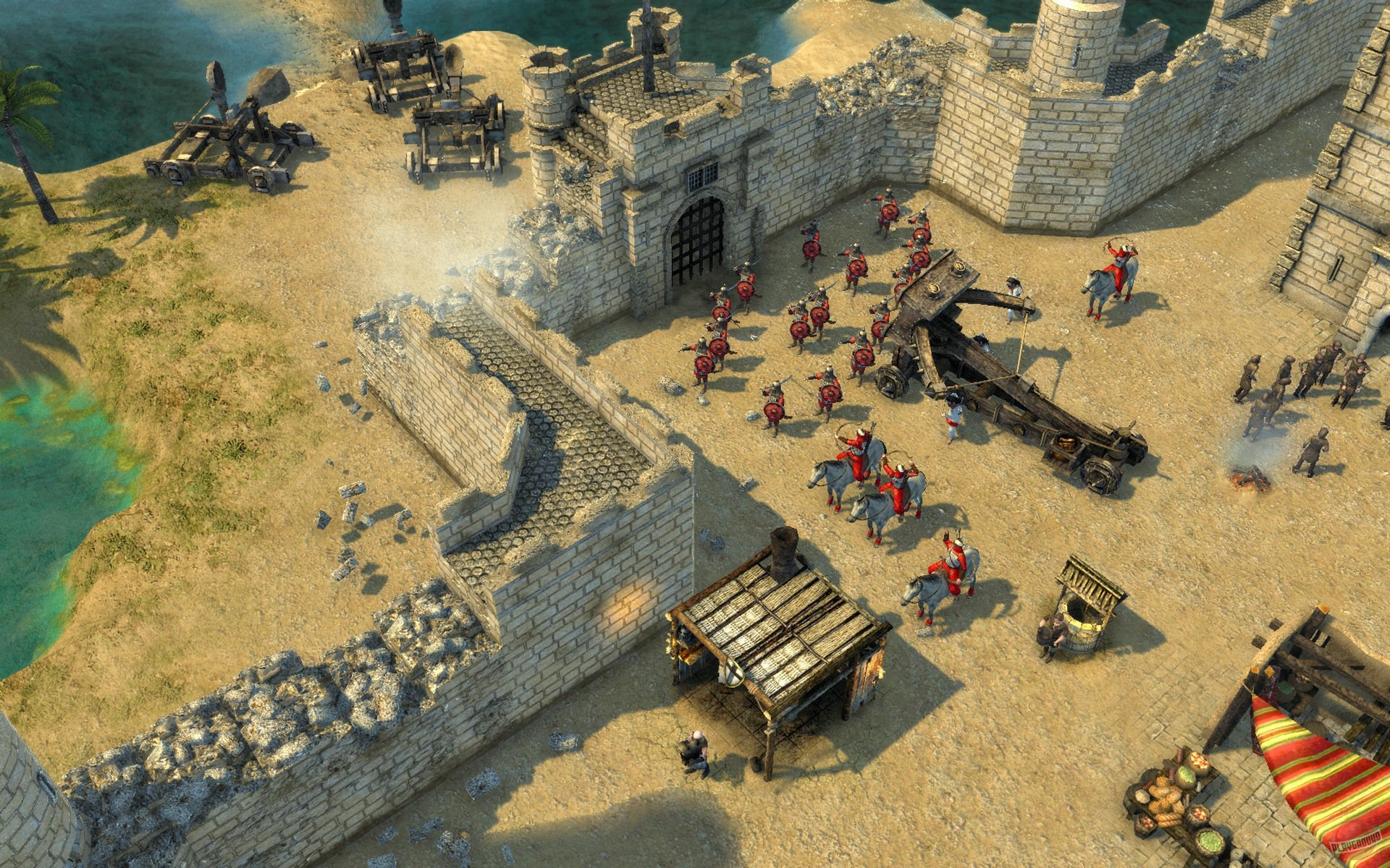 Полное прохождение игры Stronghold Crusader.