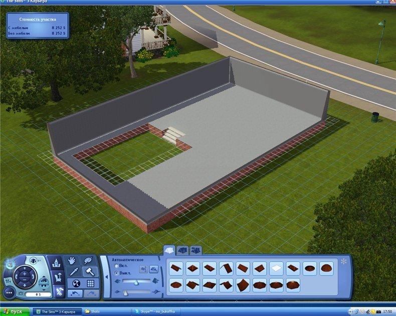 Как убрать сетку при строительстве здания в игре Симс