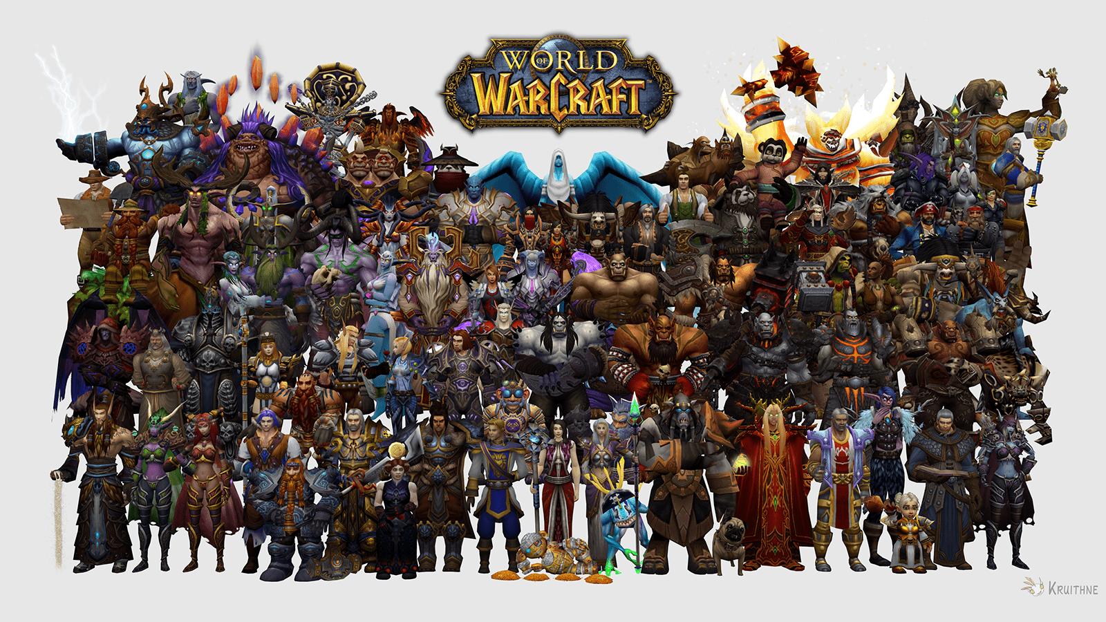 Самые популярные персонажи игры World of Warcraft
