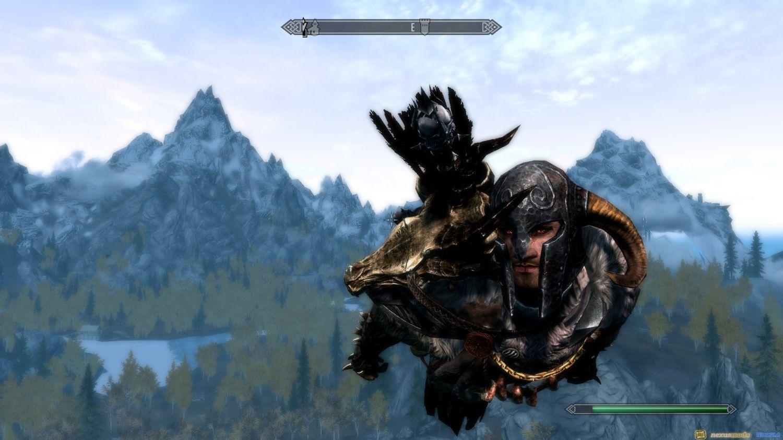 Как можно летать персонажу в игре Скайрим?