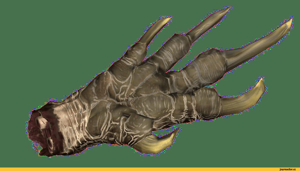 Лапа и перчатка когтя в игре Fallout 4