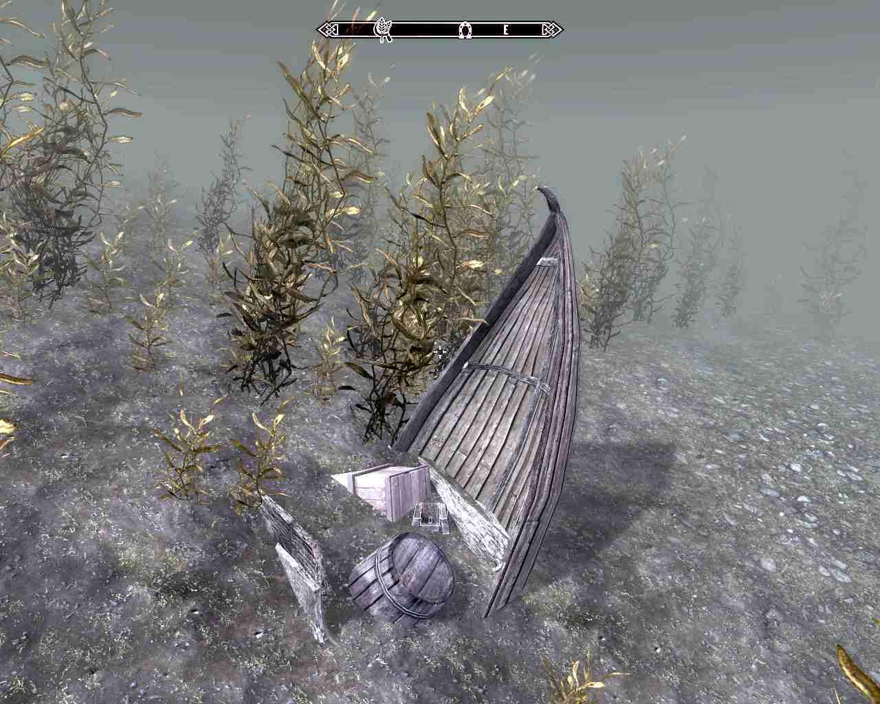 Где найти двойственное перо на дне озера Хонрик в Skyrim?