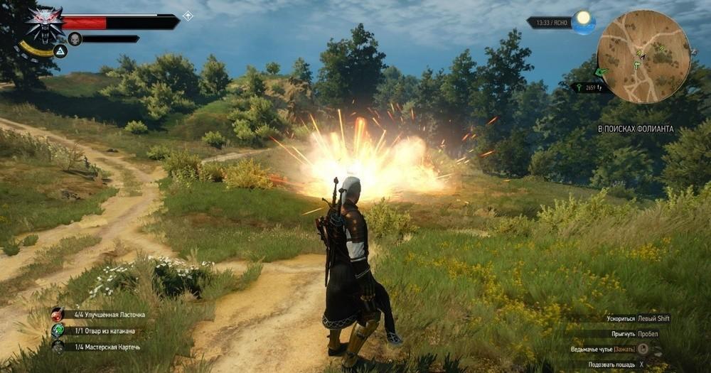 Как бросать бомбы в игре Ведьмак 2