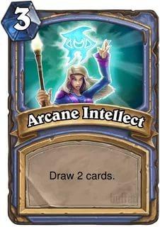 Базовая колода карт у мага в игре Hearthstone