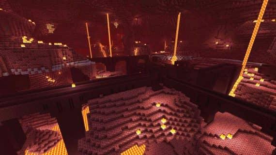 Адская крепость в игре Minecraft